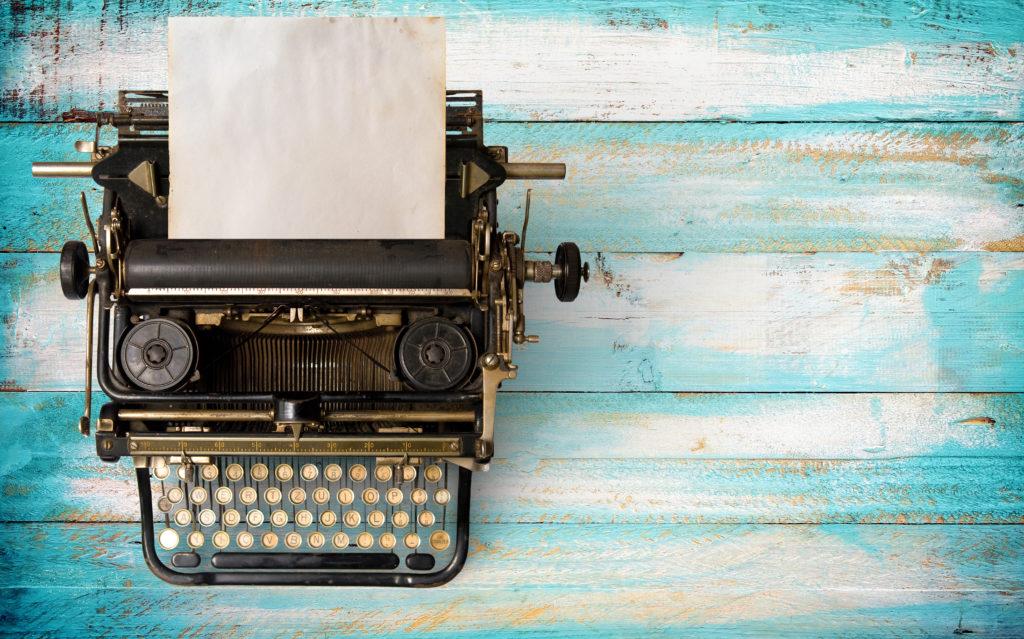 Machine à écrire pour Story telling
