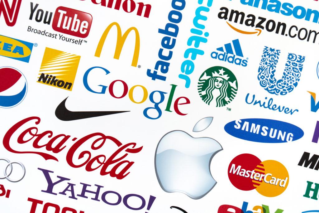différents logos de grandes marques
