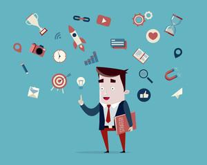 représentation d'un responsable marketing pour éditeur de logiciel