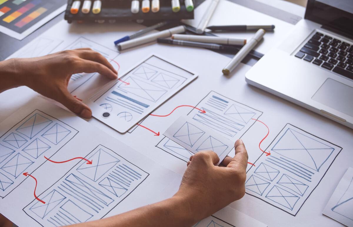 Travail sur une maquette d'application mobile